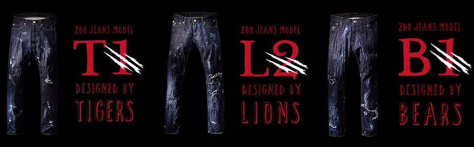 The jeans come in three varieties: Tiger, Bear, and Lion! Which would you pick?