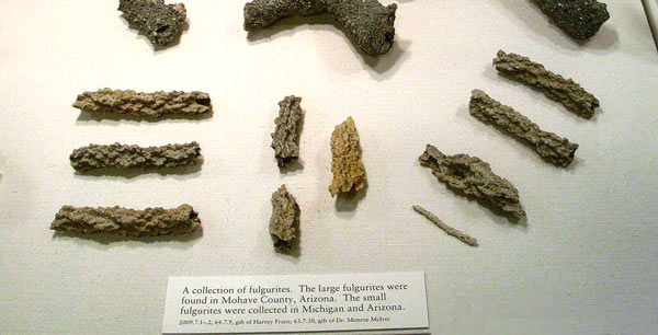 Natural Fulgurite in the Corning Museum of Glass