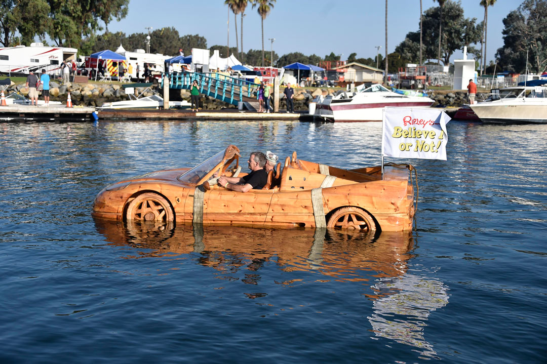 Ripley's Sailed a Wooden Ferrari