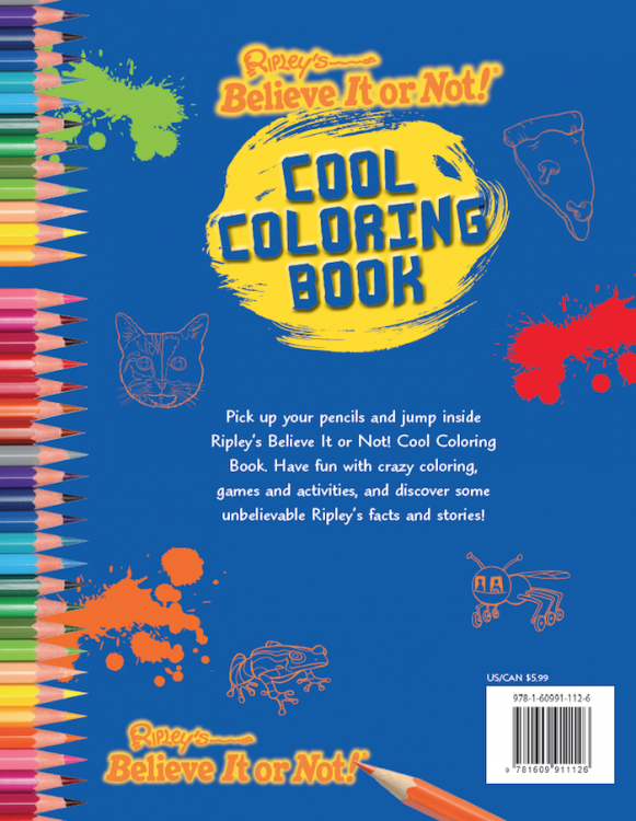 Cool Coloring Book - Ripley\'s Believe It or Not!