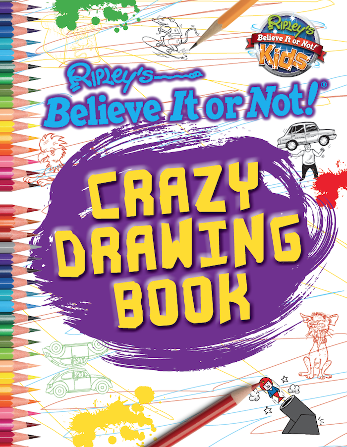 Book Cover Drawing Easy : Crazy drawing book ripley s believe it or not