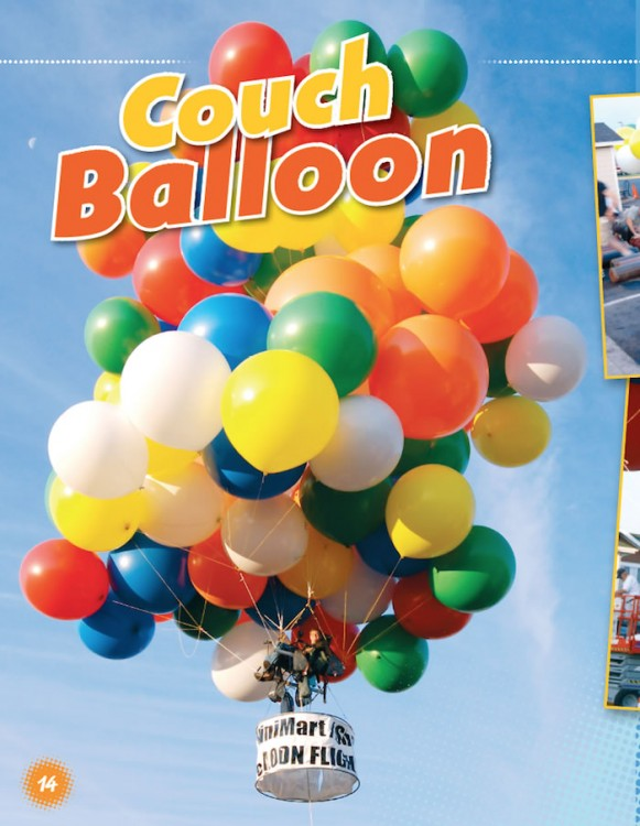 Utterly Crazy! couch balloon