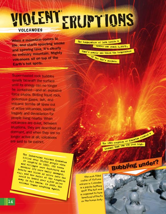 Extreme Earth violent eruptions