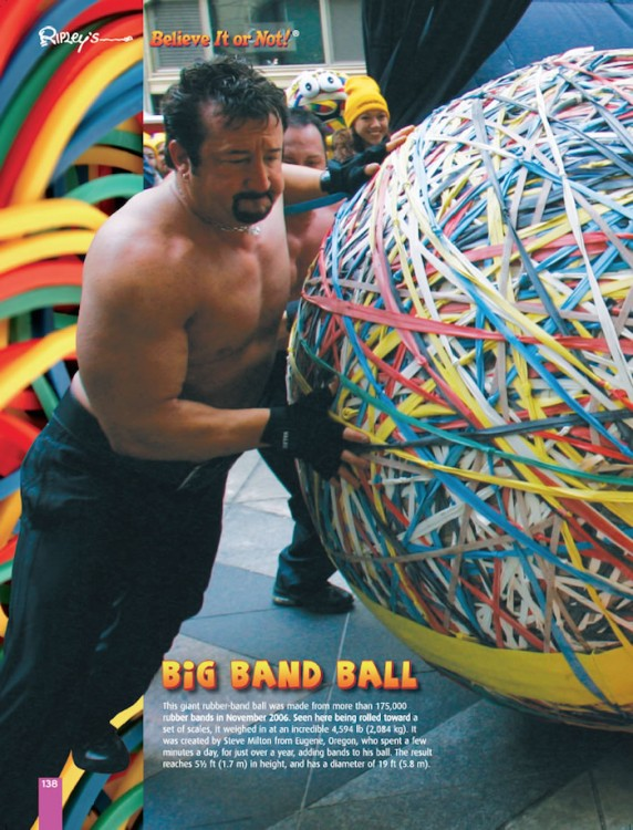 The Remarkable Revealed! big rubber band ball