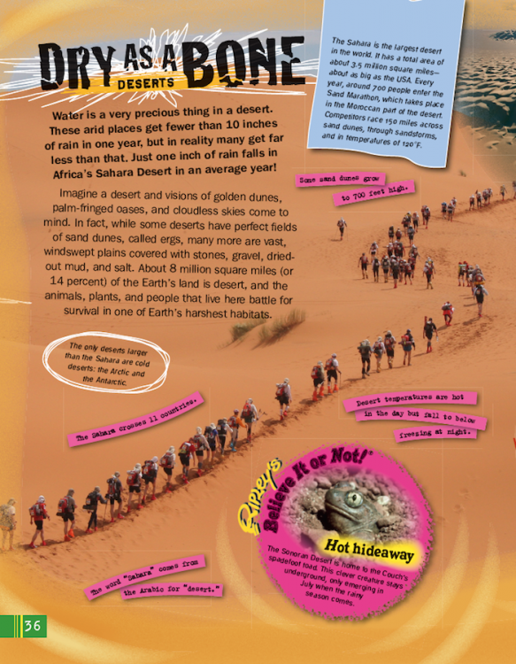 Extreme Earth dry deserts