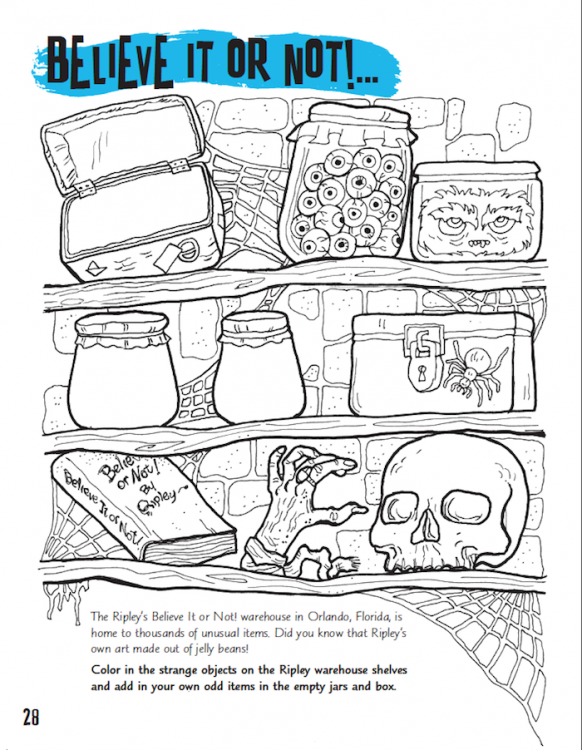 Cool Coloring Book Ripley S Believe It Or Not