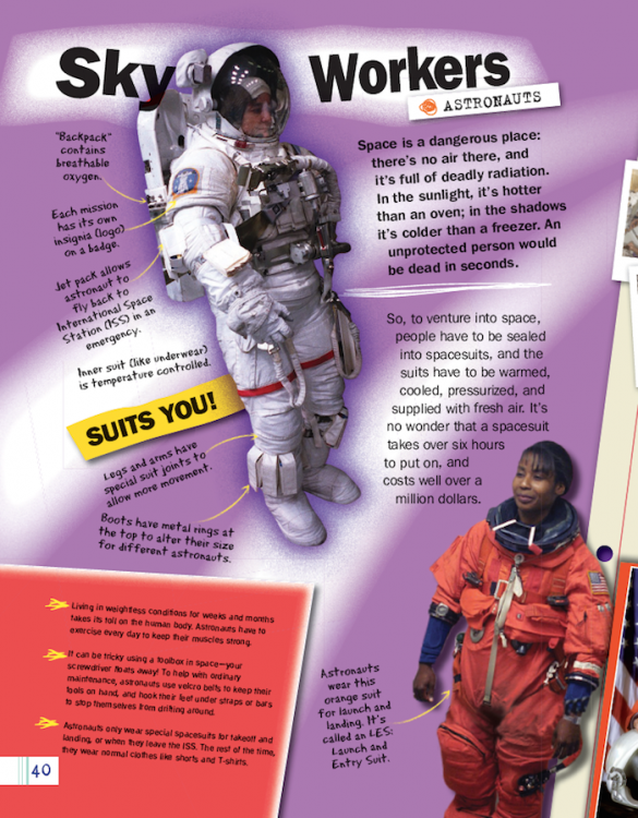 Space astronauts