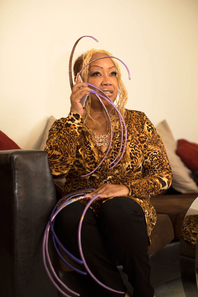 Ayanna Williams on the phone