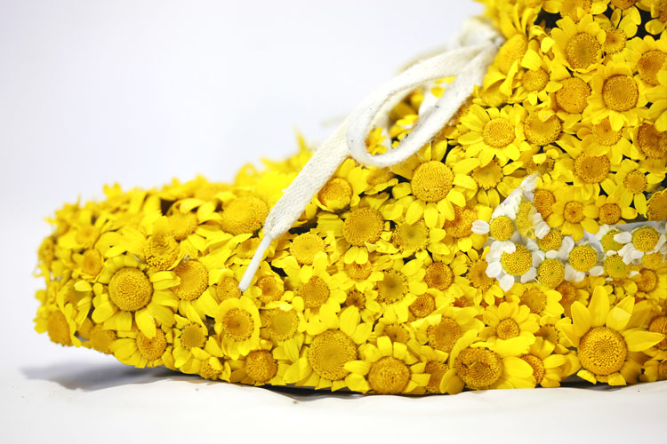 Shoes made of Yellow Flowers