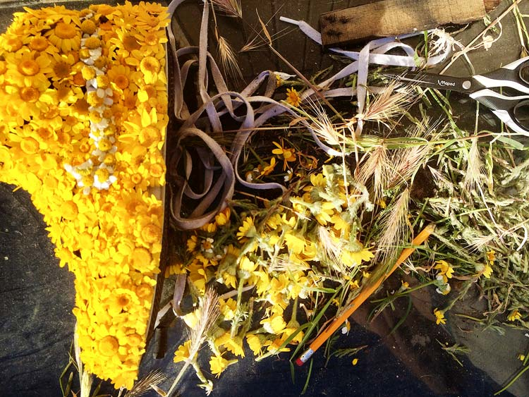 Yellow Flowers Construction