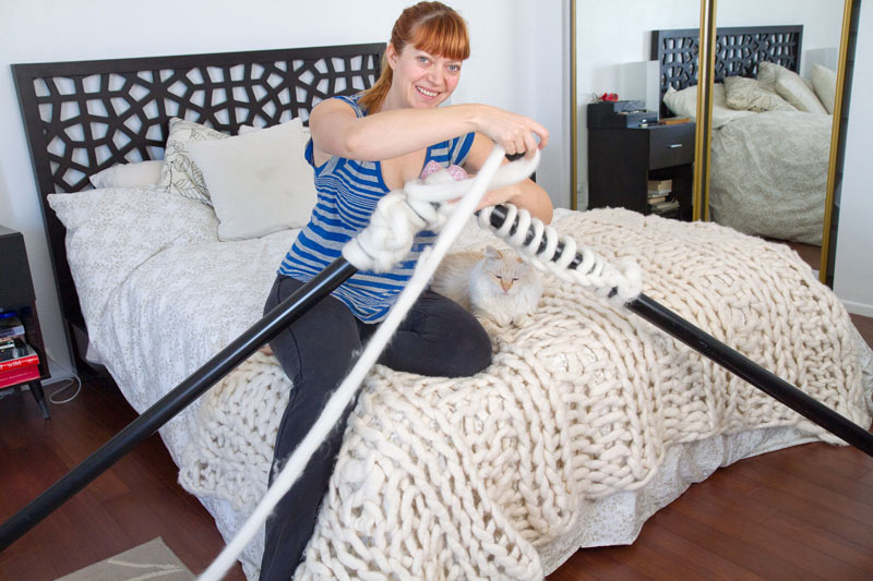 Giant Knitting Needles And Wool Uk : Knitting with foot long needles