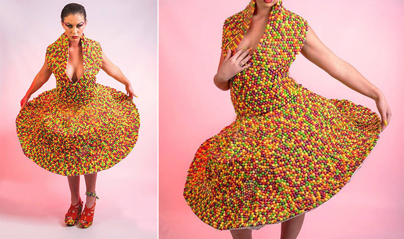 This Dress Is Made Of 3 000 Skittles