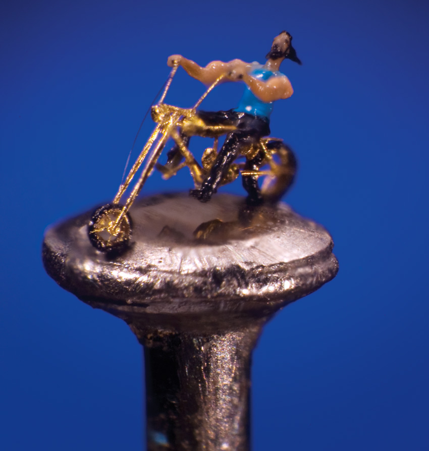 Harley Biker on the Head of a Pin