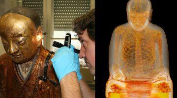 self mummified body