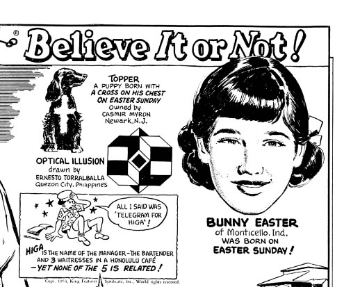Bunny Easter featured in our 1953 cartoon.