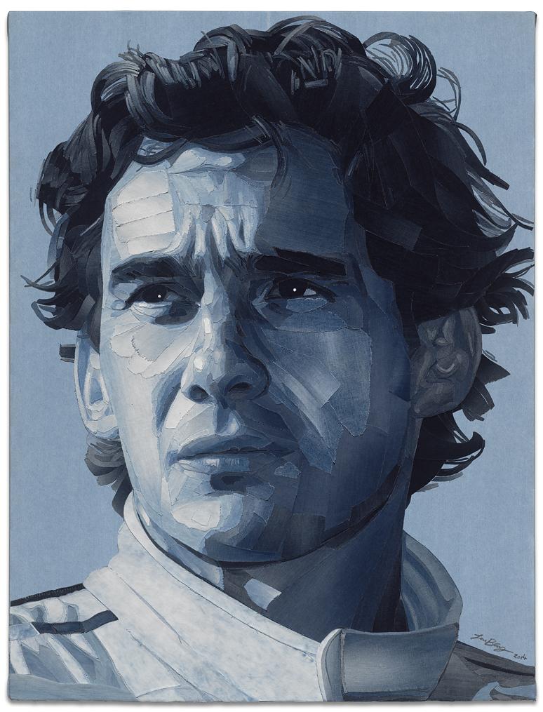 Portrait of Aryton Senna