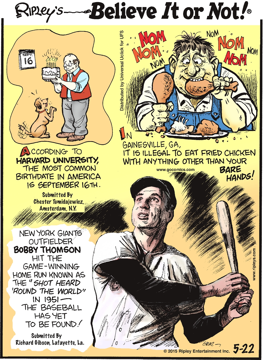 Not The Baseball Pitcher: Ripley's Believe It Or Not
