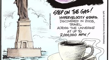\Hypervelocity stars, discovered in 2005, travel across the universe at up to 2,000,000 mph! Coffee doesn't come from beans--its actually made from a seed called a bean! The statue of liberty was originally designed for the Suez Canal in Egypt. (Submitted by Chester Tumidajewicz, Amsterdam, NY)