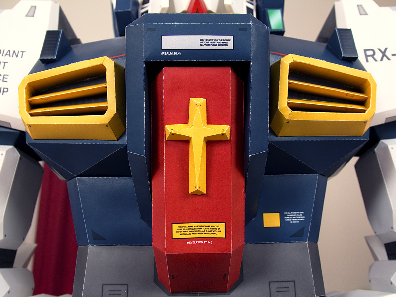 Paper Gundam Chest Peice Closeup