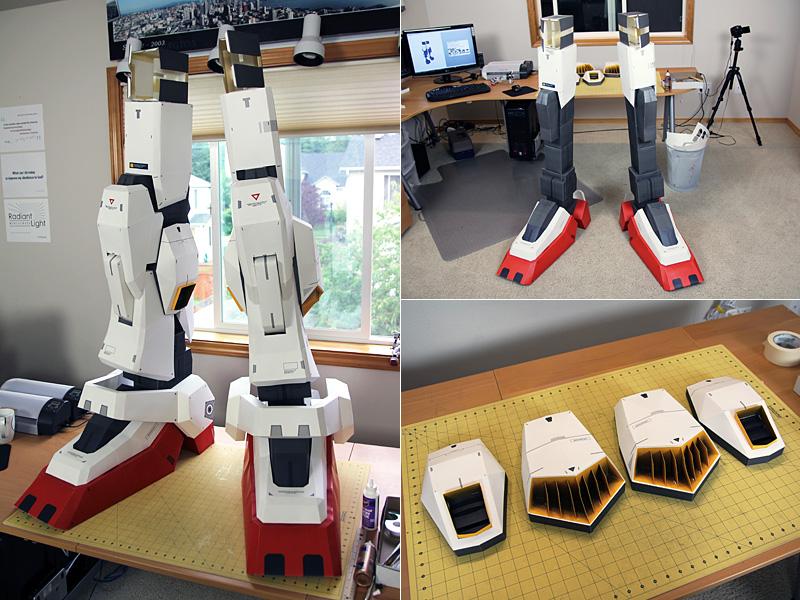 Paper Gundam Leg Construction