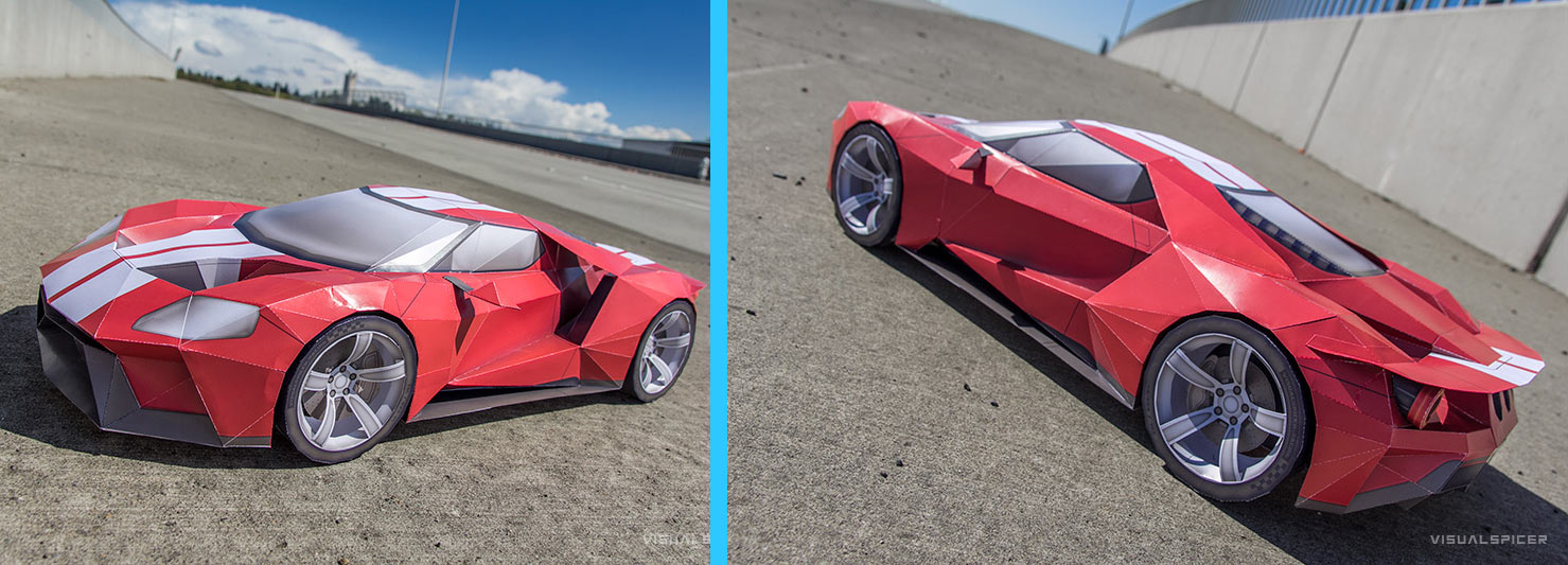 Paper Craft 2015 Ford GT by Visual Spicer