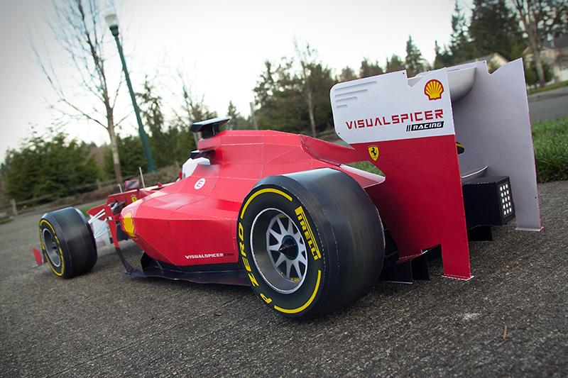 Papercraft Ferrari F1