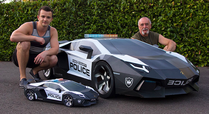 Papercraft Lamborghini Police Interceptor