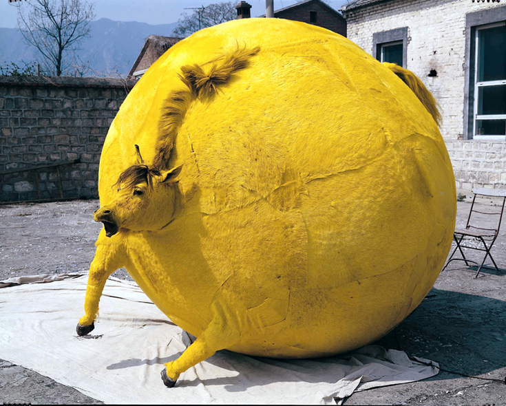 Yellow Horse Inflated