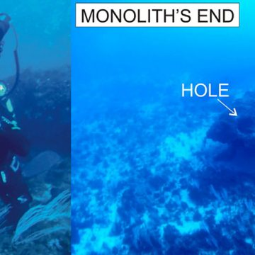 Ancient Monolith Underwater