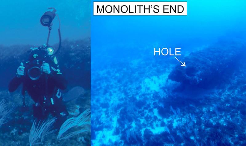 Ancient Monolith Underwater