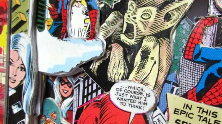 Comic Book Sculpture