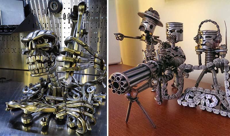 These Dangerous Robots Are Made Of Old Tools Parts Ripcycle