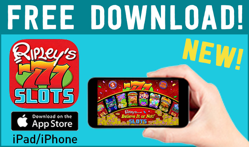 Ripley's Free Slots App for iPad and iPhone