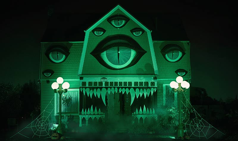 Christine McConnell turns her house into a fanged beast with too many eyes!