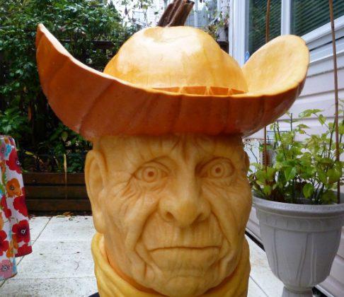 cowboy pumpkin carving