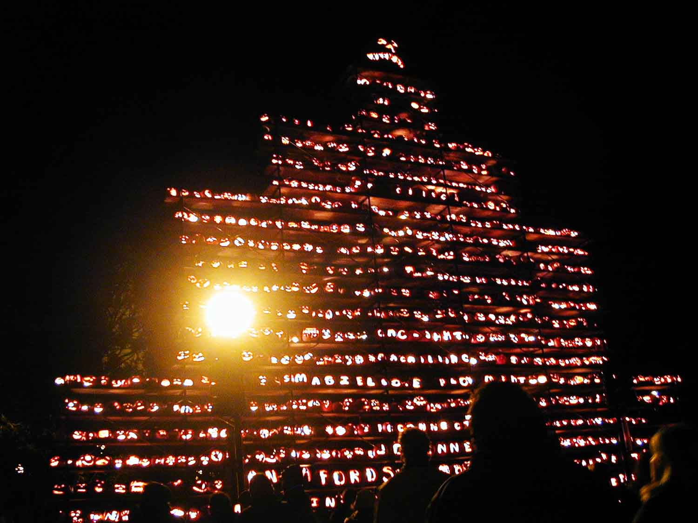 jack-o-lantern pyramid