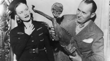 Robert Ripley with a Fiji Mermaid (not the woman)