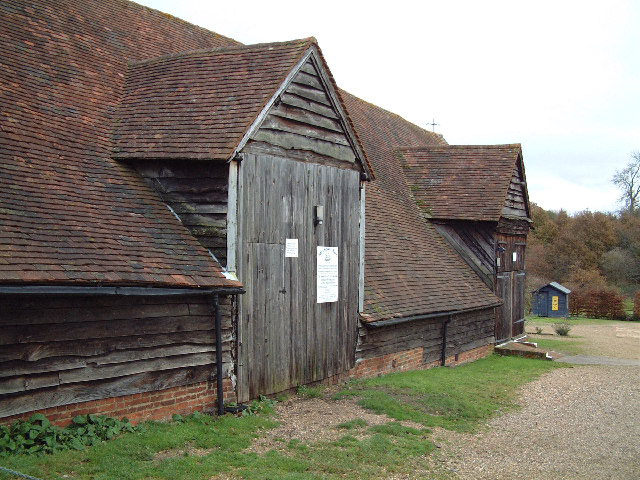 barn supposedly made from the Mayflower