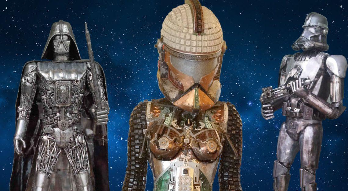 Ripley's Star Wars Scrap Metal Sculptures