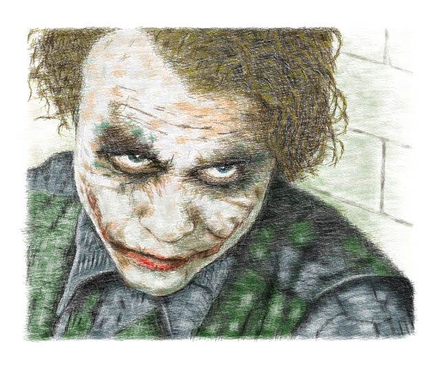 Word Art, Heath Ledger as the Joker