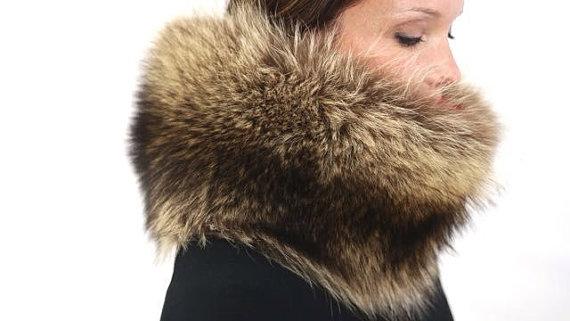 roadkill fur raccon muff
