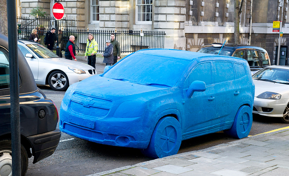 To mark the U.K. launch of the Chevrolet Orlando, eight model makers spent two weeks handcrafting a life-size replica car from Play-Doh modeling clay.