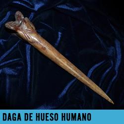 daga de hueso humano