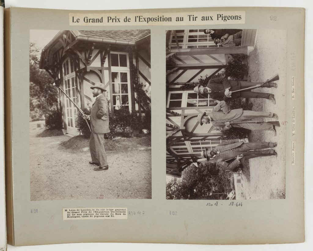 Léon de Lunden, the one and only Olympic Pigeon Shooting champion.
