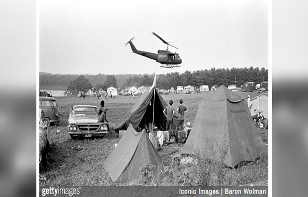 The U.S. Army Airlifted Snacks and Supplies to Woodstock