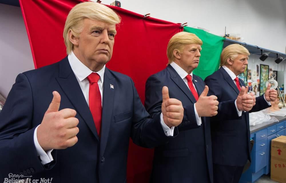 Donald Trump wax figures