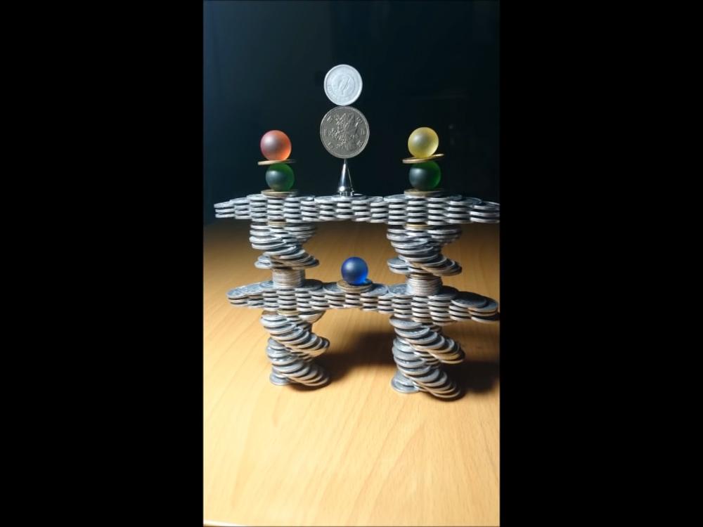 balanced coin tower