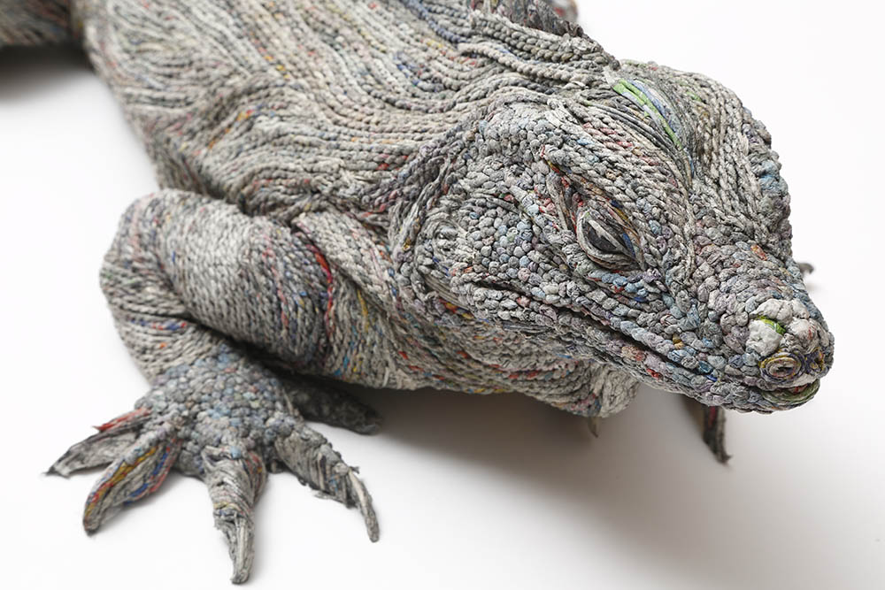 iguana newspaper art
