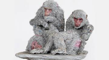paper artist macaques