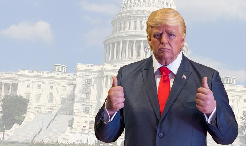 strange inaugurations Trump wax figure